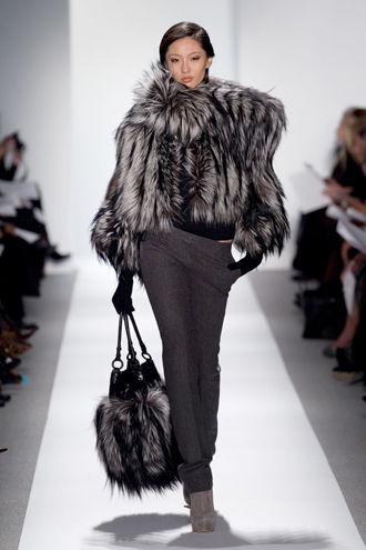 Dennis Basso (New York) NAFA Silver Fox Jacket and Handbag